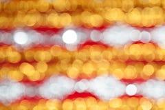 Defocused抽象红色和黄色bokeh背景 免版税库存照片