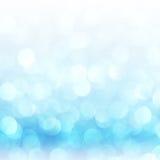 Defocused抽象蓝色点燃背景 Bokeh光 库存照片