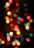 Defocused сolored circular lights Royalty Free Stock Image