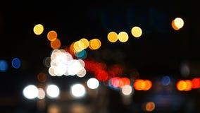 Defocused światła nocy autostrada zbiory