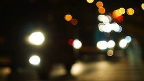 Defocused światła nocy autostrada zbiory wideo