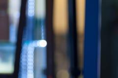 Defocused świateł abstrakcjonistyczny błękitny tło obraz royalty free