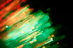 Defocused абстрактная предпосылка кабелей оптического волокна Стоковые Изображения