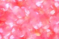 Defocused абстрактная яркая предпосылка красного цвета и белых светов Стоковая Фотография RF