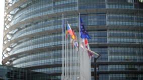 Defocused взгляд управления Европейского парламента видеоматериал