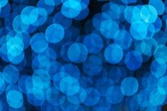 Defocused голубой свет bokeh Стоковая Фотография RF