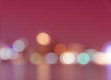 Defocused город освещает предпосылку Стоковое Фото
