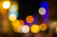 Defocused городское абстрактное bokeh светов города Стоковое Изображение RF
