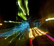 Defocused запачканное абстрактное изображение города Стоковое Изображение RF