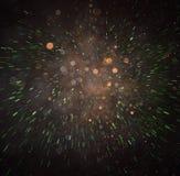 Defocused конспект красного цвета и зеленые светы разрывали предпосылку Стоковая Фотография RF