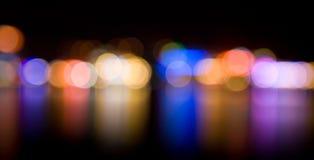 defocused ноча светов Стоковое фото RF