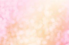 Defocused предпосылка года сбора винограда света Bokeh золота Стоковые Фото