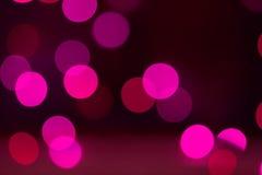 Defocused предпосылка Bokeh фиолетовой строки Fairy света Стоковое Изображение