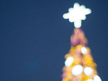 Defocused рождественская елка, абстрактная предпосылка Стоковые Фото