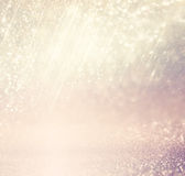 Defocused розовое фото предпосылки светов пурпура и золота стоковые изображения rf