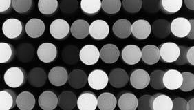 Defocused света, черно-белая абстракция кругов Стоковая Фотография RF