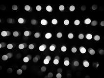 Defocused света, черно-белая абстракция кругов Стоковые Фото