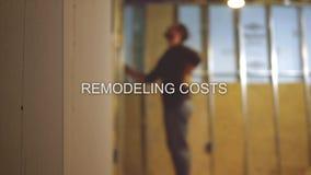 Defocused серия текста подрядчика подвала отделкой - Remodeling стоит акции видеоматериалы