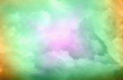 Defocused/弄脏了绿色和蓝色抽象背景 免版税库存图片