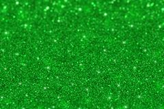绿色闪烁defocused背景 免版税库存照片