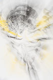 Defocused abstract background with a predominance of yellow and black colors, art abstraction. Defocused abstract background with a predominance of yellow and Royalty Free Stock Images