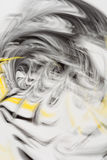 Defocused abstract background with a predominance of yellow and black colors, art abstraction. Defocused abstract background with a predominance of yellow and Royalty Free Stock Image