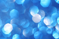 Defocused abstract blue christmas background Stock Image
