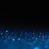 Defocused abstract blue lights background . bokeh lights. Stock Image
