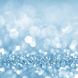 Defocused abstract blue lights background . bokeh lights. Stock Images