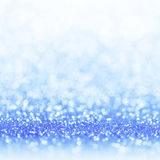 Defocused abstract blue lights background . bokeh lights. Royalty Free Stock Images