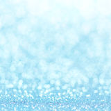 Defocused abstract blue lights background . bokeh lights. Royalty Free Stock Image
