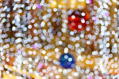 The defocused abstract blurry circles background. Stock Photography