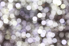 Defocused abstract Christmas lights Stock Image