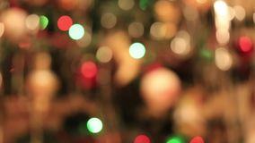 Defocused abstract christmas lights stock video