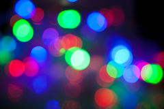 Defocused abstract festive lights Royalty Free Stock Image