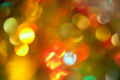 Defocused abstract festive lights Royalty Free Stock Images