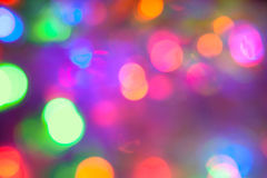 Defocused abstract festive lights Royalty Free Stock Photography
