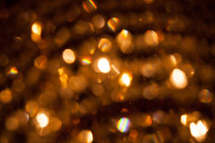 Defocused abstract golden lights Stock Photography