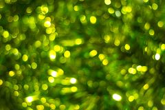 Defocused abstract green background. Blurred holiday bokeh Stock Image
