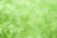 Defocused abstract green lights background Stock Photo