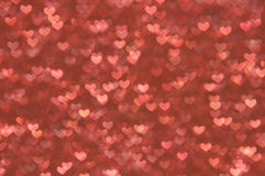 Defocused abstract hearts light background Royalty Free Stock Photos