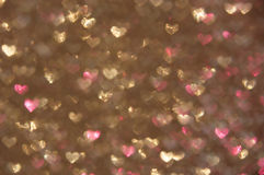Defocused abstract hearts light background Royalty Free Stock Photography
