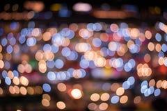 Defocused abstract licht voor achtergrond Royalty-vrije Stock Foto's
