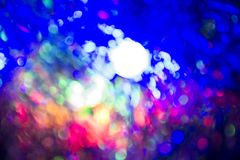 Defocused abstract lights christmas background Royalty Free Stock Photography