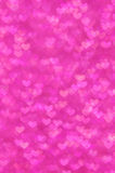 Defocused abstract pink hearts light background Royalty Free Stock Photography