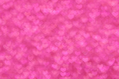 Defocused abstract pink hearts light background Royalty Free Stock Photo