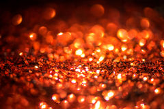 Defocused abstract red Bokeh lights. Stock Image