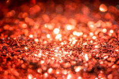 Defocused abstract red Bokeh lights. Royalty Free Stock Photo