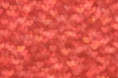 Defocused abstract red hearts light background Royalty Free Stock Image