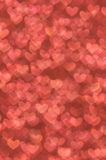 Defocused abstract red hearts light background Stock Photography